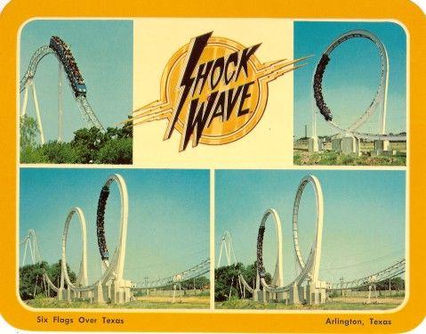 Six Flags Over Texas Mark S Postcard Paradise Shockwave Six Flags Over Texas Six Flags Postcard