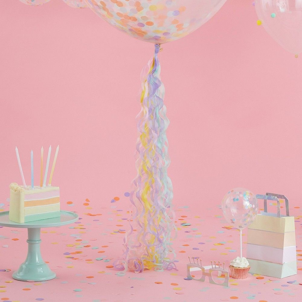 Photo of Pastel Curly Tail Balloon Accessories, Adult Unisex