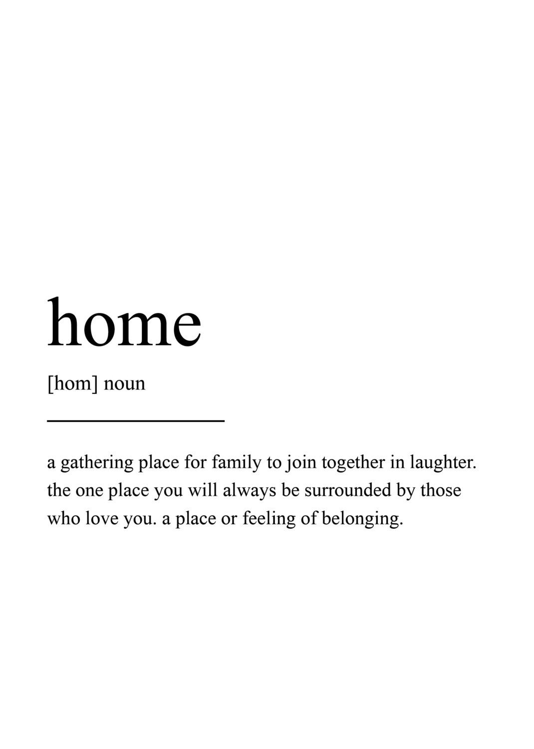 Home Definition Print Wall Art Prints Quote Print Wall