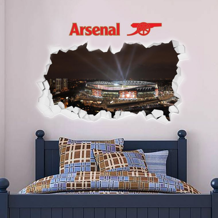Best Smashed Emirates Stadium Outside Lights View Wall Stickers 400 x 300
