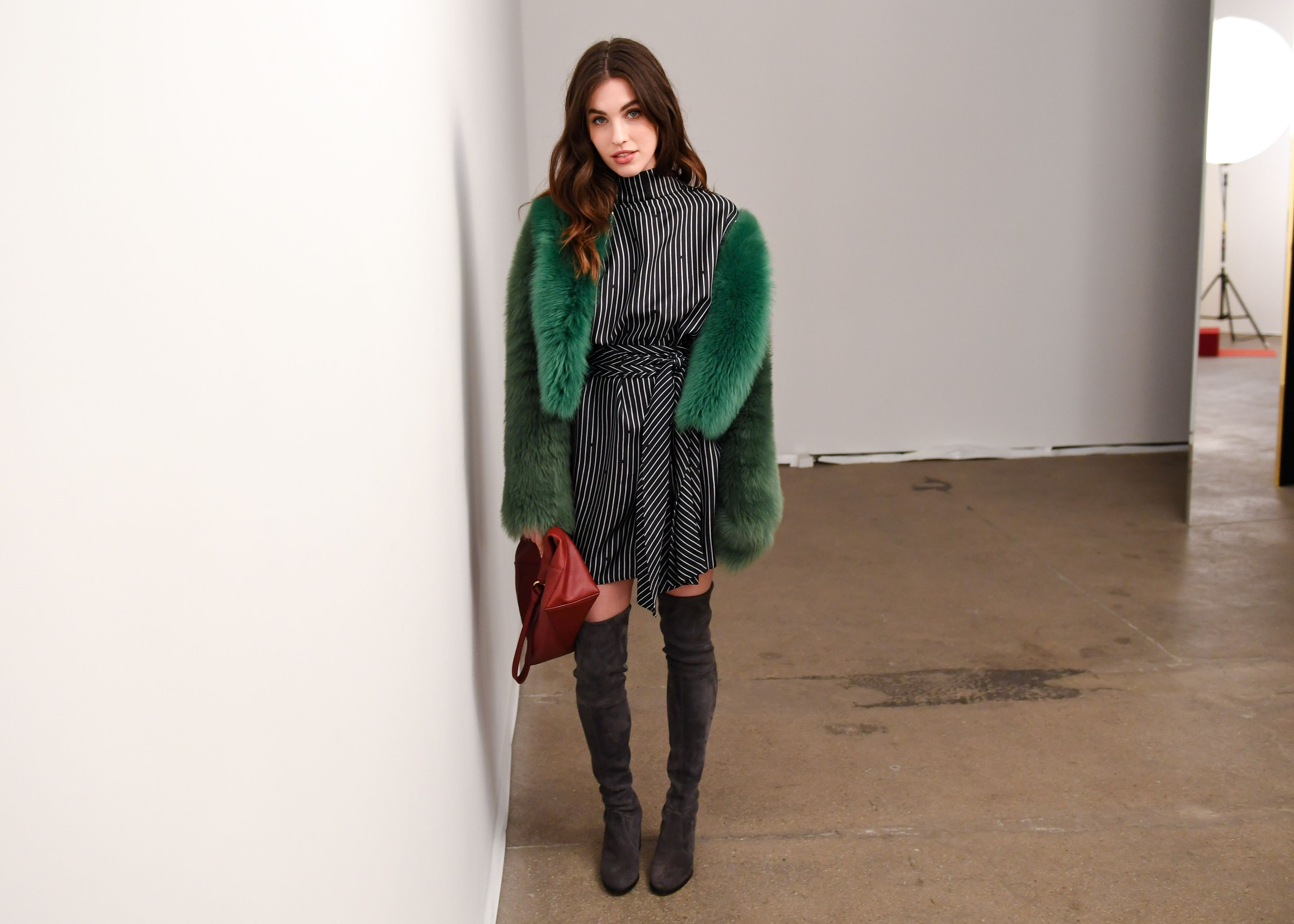 Inthecrack Asta Ideal rainey qualley at the dvf fall 2017 presentation. | celebrating