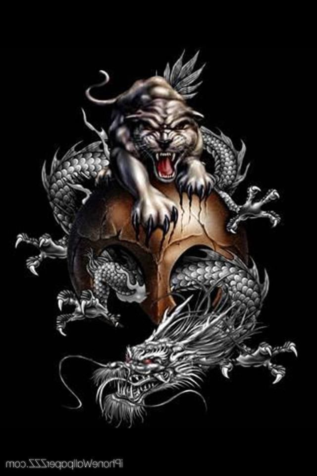 Tiger and Dragon Wallpaper | Download Retina China Dragon And Tiger HD Wallpaper For IPhone