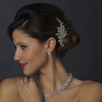 Diamond White Pearl and Rhinestone Wedding Hair Clip - perfect bridal accessory! affordableelegancebridal.com