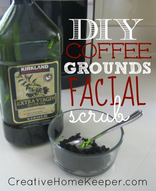 DIY Coffee Grounds Facial Scrub {Natural Beauty} | Diy