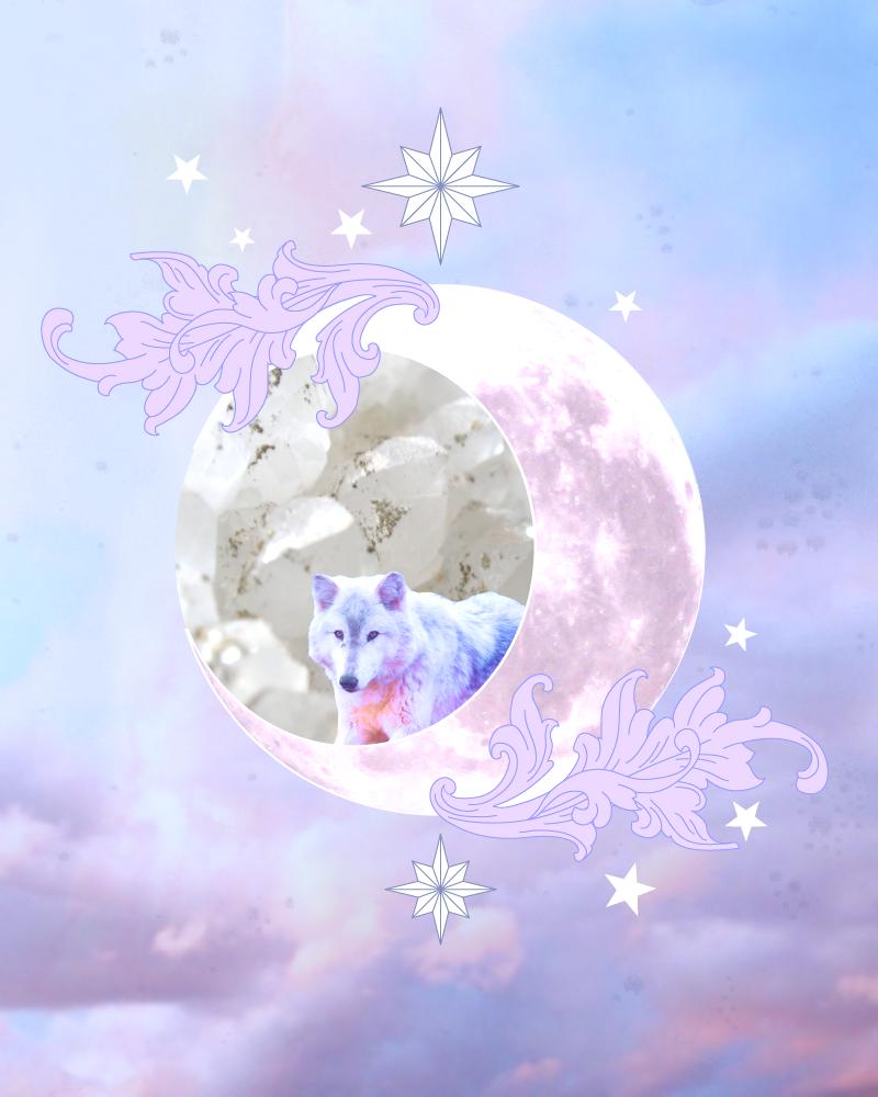XVIII. The Moon (Graphic Design) by Carla Izumi Bamford