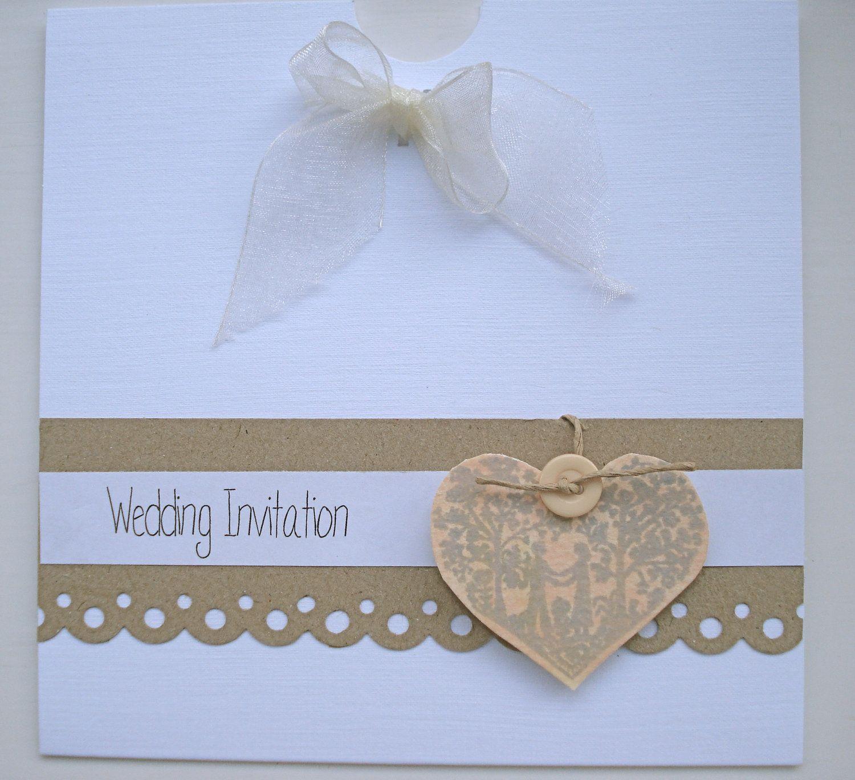 Vintage Handmade Wedding Invitations: The ELLA Range Vintage Handmade Wedding Invitation French