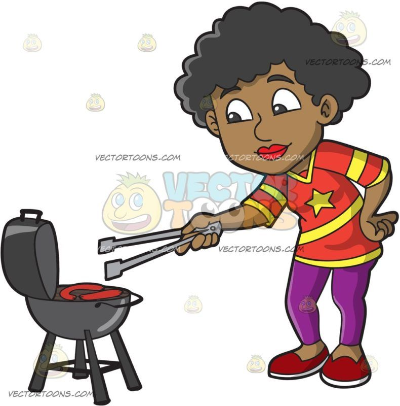 a black woman grilling sausages during a tailgate party rh pinterest com tailgate clipart images tailgate clip art free