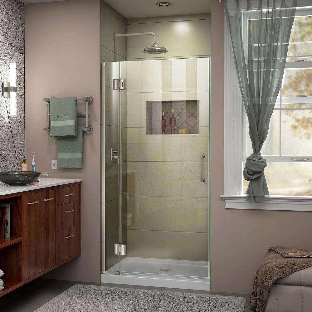 Dreamline Unidoor X 30 In X 72 In Frameless Pivot Shower Door In