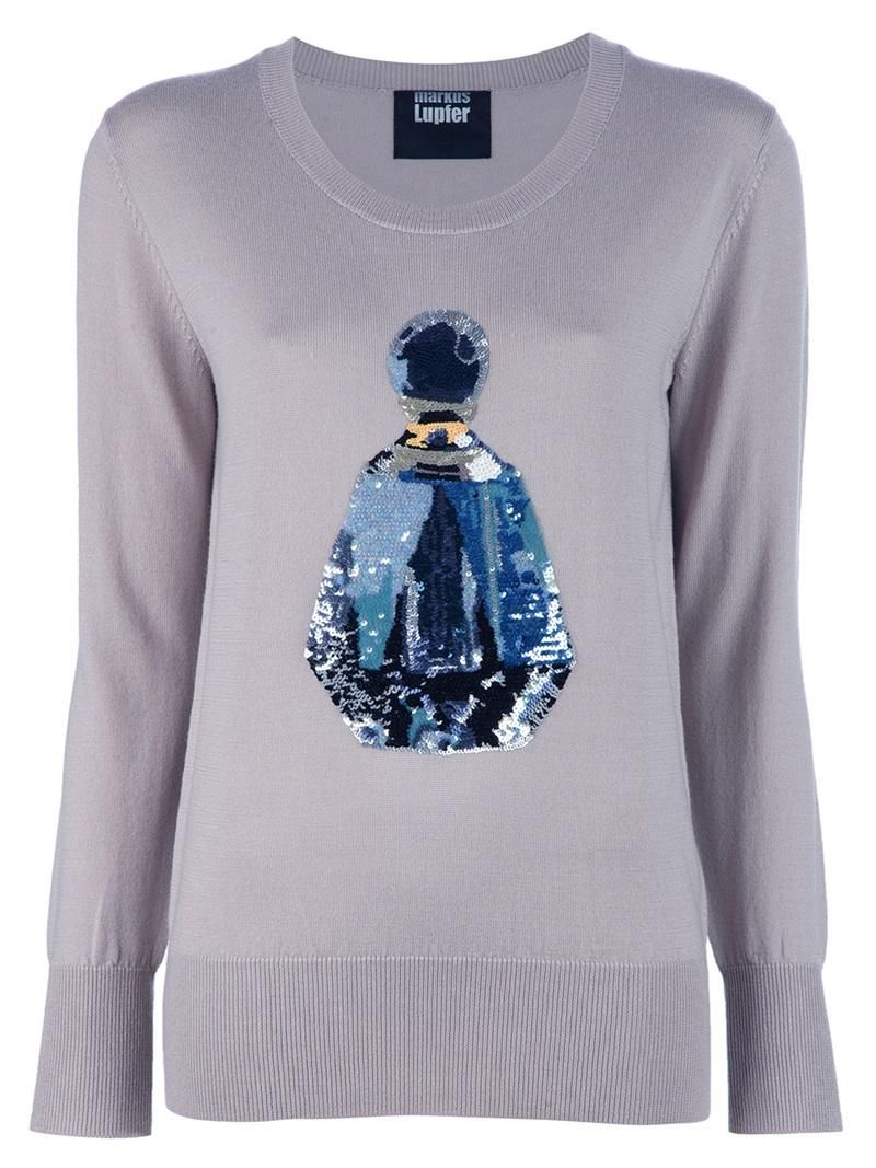 MARKUS LUPFER Perfume Sequin Sweater by MARKUS LUPFER