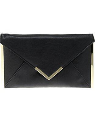ASOS Fashion Finder | ASOS Metal Bar Detail Envelope Clutch