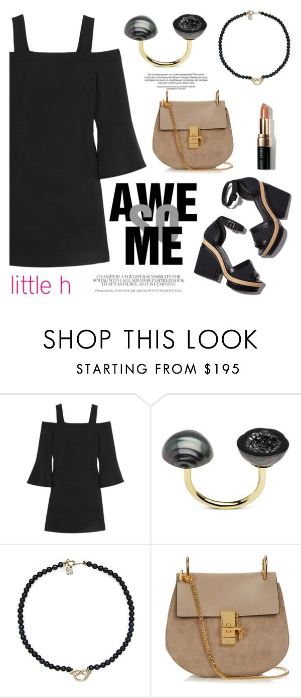"""Awesome Little h Jewelry"" by littlehjewelry ❤ liked on Polyvore featuring TIBI, Pearl & Black, Pierre Hardy, Chloé and Bobbi Brown Cosmetics"
