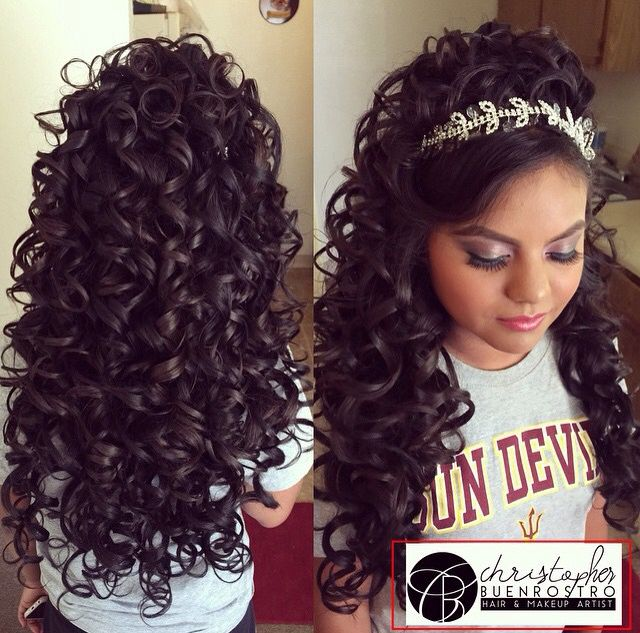 Quince Hairstyles quinceanera hairstyles with curls and tiara hair down google search more Quinceanera