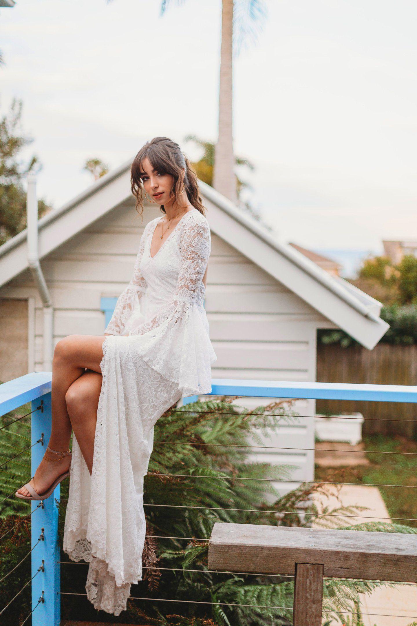 Joni future wedding pinterest boho lace wedding dress lace
