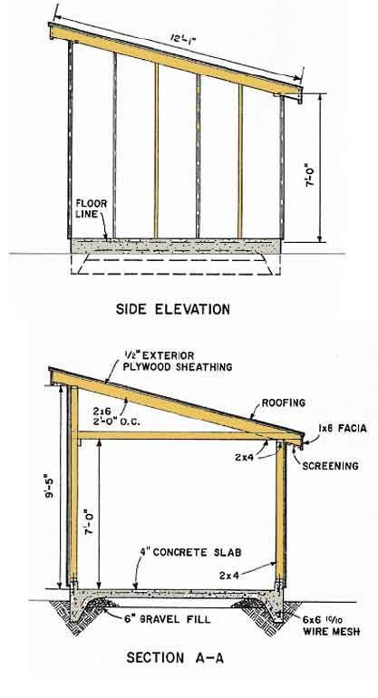 Shed Plans Blueprints 10x12