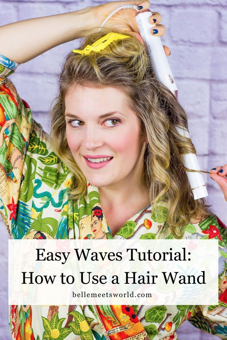 How to use a hair wand wavy hairstyles hair tutorial beauty