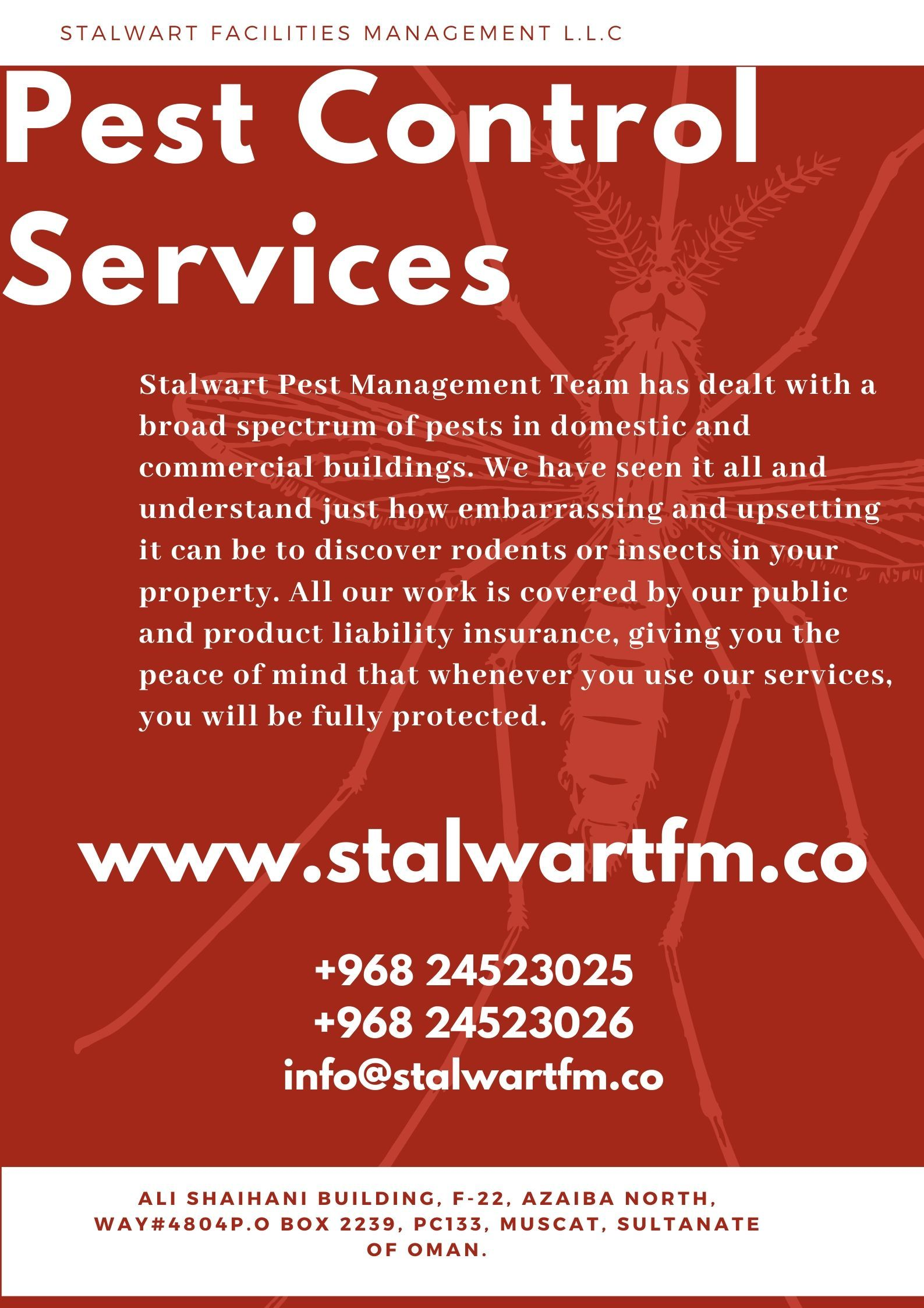 Pest Control Services In Muscat Oman Pest Control Services Pest Control Pest Problem