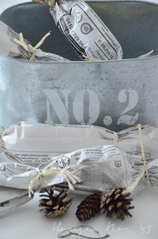 House No. 43 mehr Winter Deko und natürliche Ofen