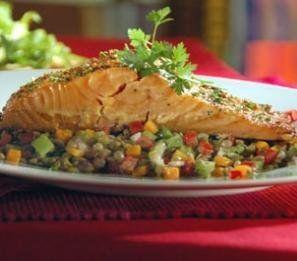 Foto de la receta de salmón al horno con salsa de soja