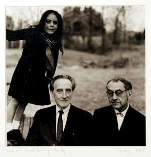 Marcel Duchamp and Man Ray with Laurie Savage, 1963 -by Naomi Savage