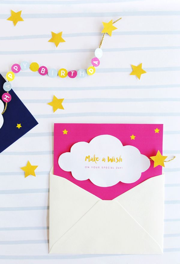 Make a Wish Birthday Cards | invitations and cards | Simple