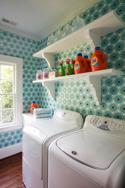 wall paper option not in love with the paper but loke on laundry room wall covering ideas id=75358