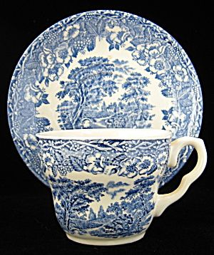 Transferware Cup And Saucer EIT England Blue Antique (Image1) | CUPS ...