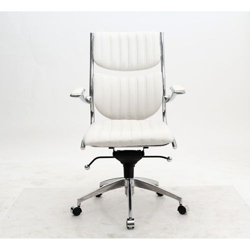 manhattan comfort verdi white high back verdi office chair
