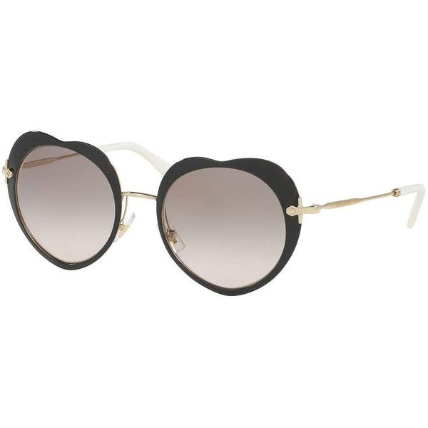 aaf6b62d6d Miu Miu Mirrored Heart Sunglasses (1.640 RON) ❤ liked on Polyvore featuring  accessories