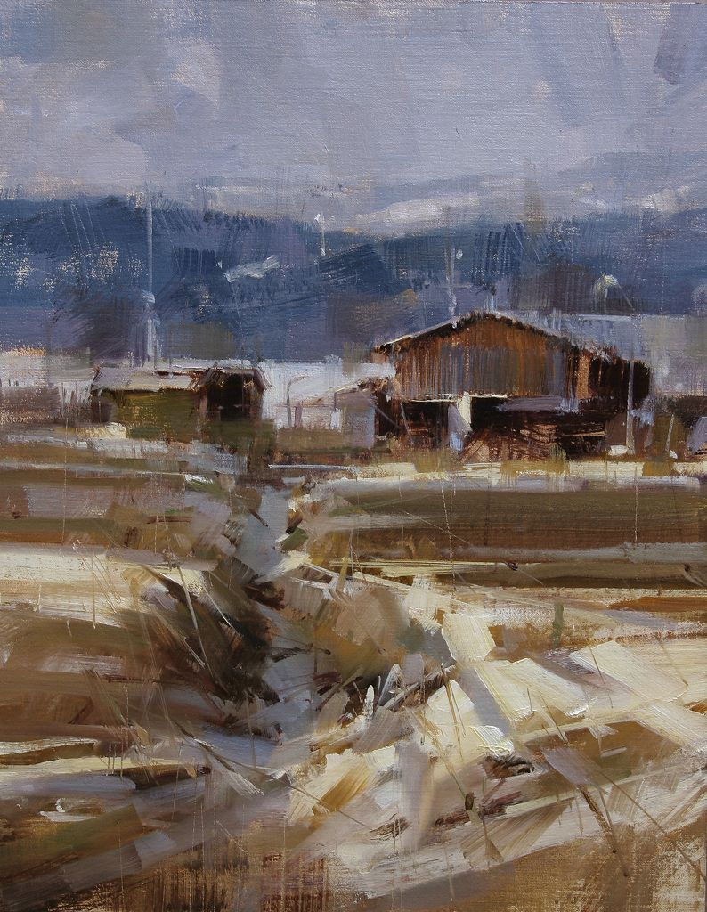 On the field oil 14 x 11 in tibor nagy peinture