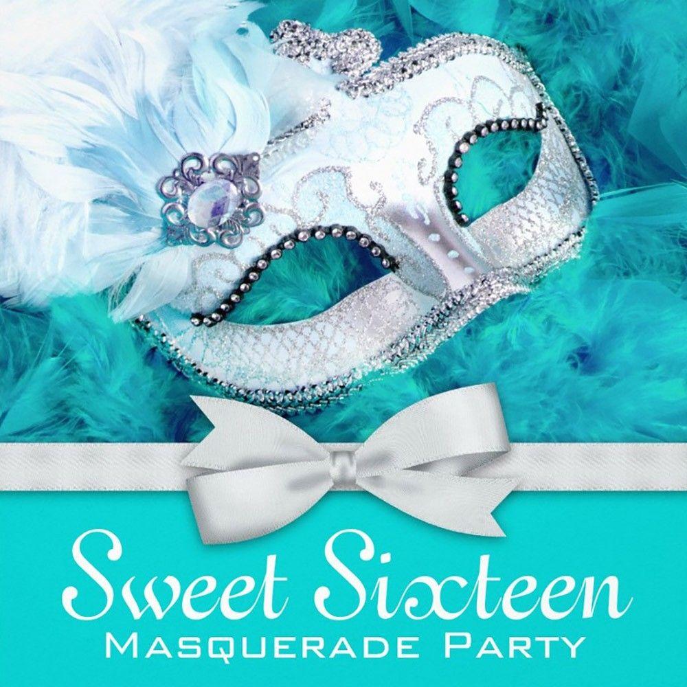Masquerade Invitation Template For Sweet 16