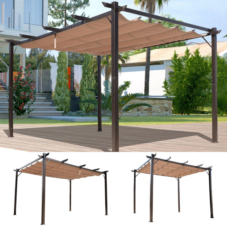 10 X 10 13 Outdoor Pergola Gazebo Backyard Canopy Cover Adjustable Sunshade In 2020 Outdoor Pergola Backyard Canopy Gazebo