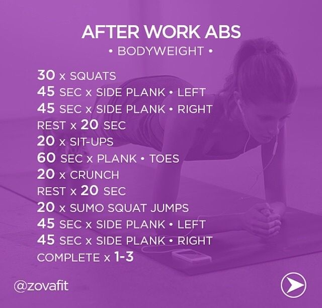 After Work AbsGet Your Abs Ready For Summer With This Bodyweight Circuit