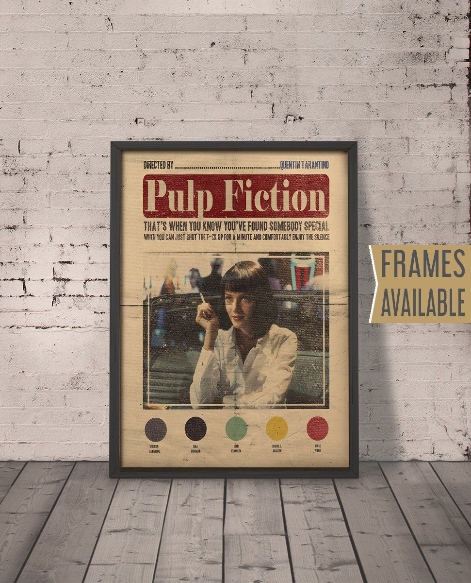 PULP FICTION Quote Poster ***Frames Available