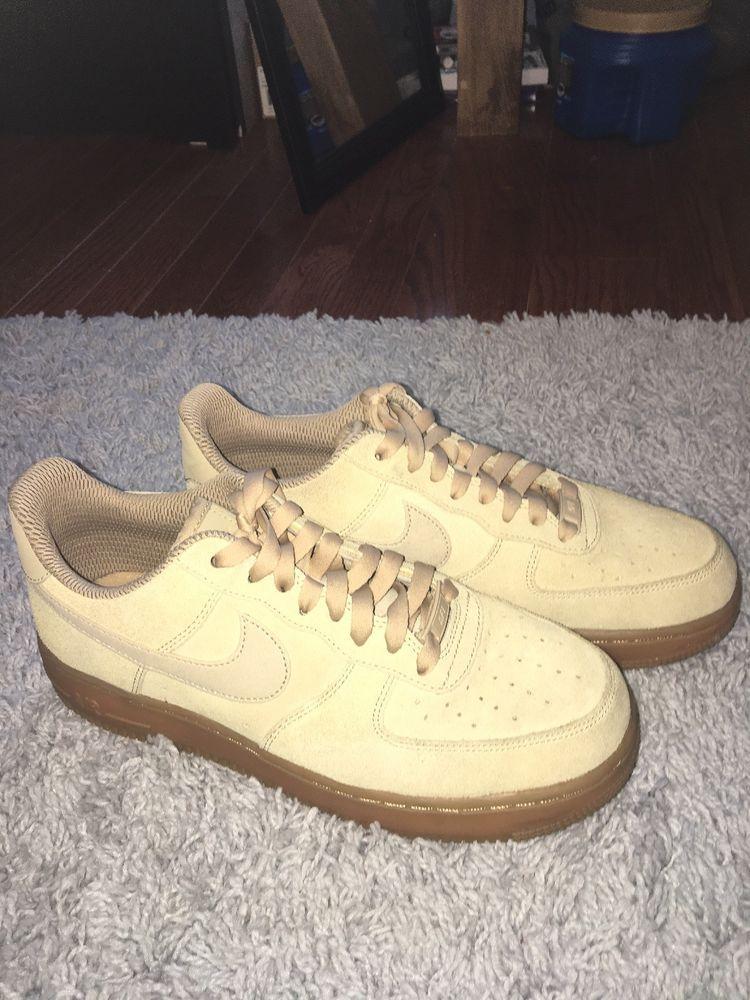 quality design 71d32 1c98d Tan/Beige Suede Nike Air Force 1 Gum Soles Womens Size 9 ...