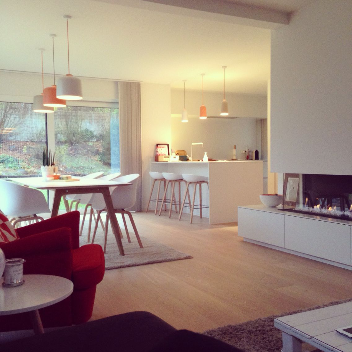 Kamin zur Küche als Raumteiler … | kleine keuken | Pinterest ...