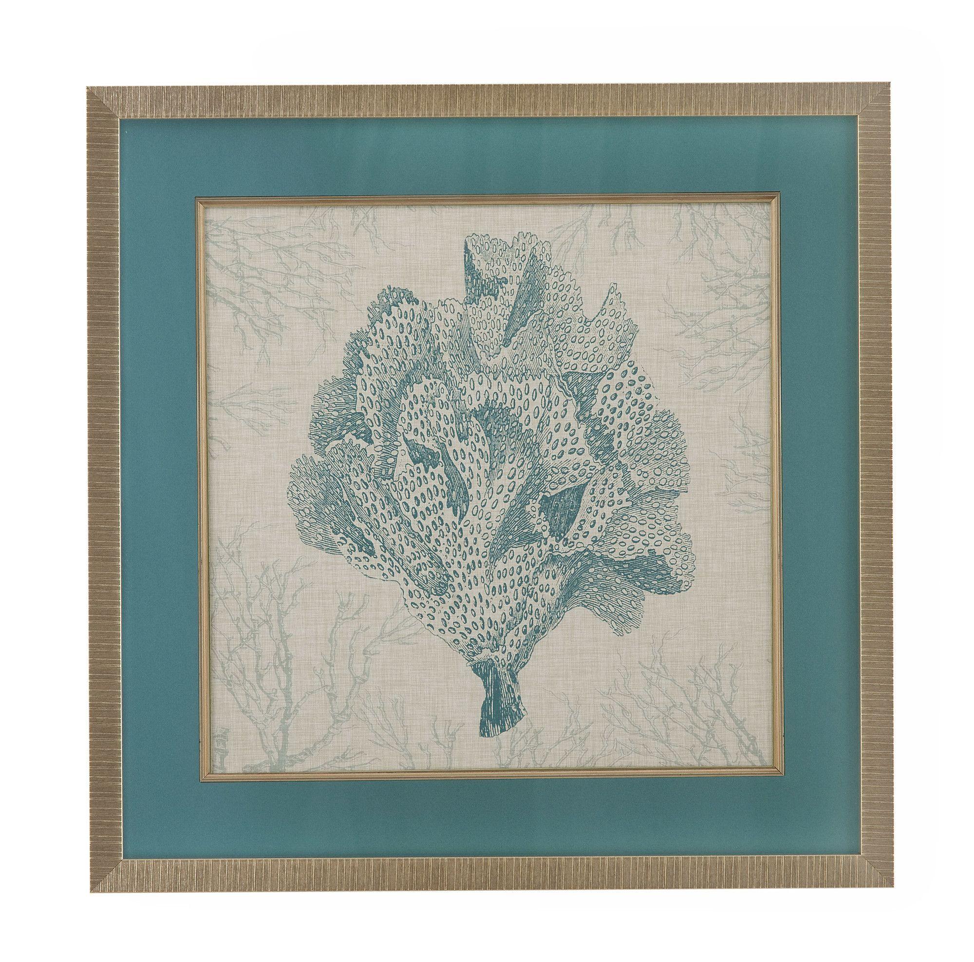 Coral Motif Iv Framed Art