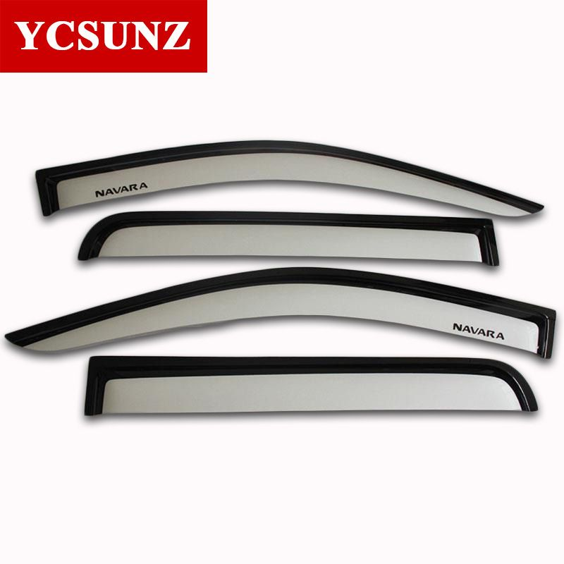 2014 2017 Window Visor For Nissan Navara Silver Color Car Wind Deflector For Nissan Navara Vent Door Visors Rai Nissan Navara Exterior Accessories Silver Color