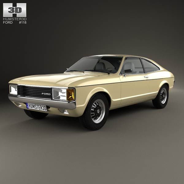 3d Model Of Ford Granada Coupe Eu 1972 Ford Granada Coupe Car Ford