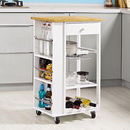SoBuy Servierwagen, Küchenwagen, Rollwagen m Schublade, http - küchenwagen mit schubladen