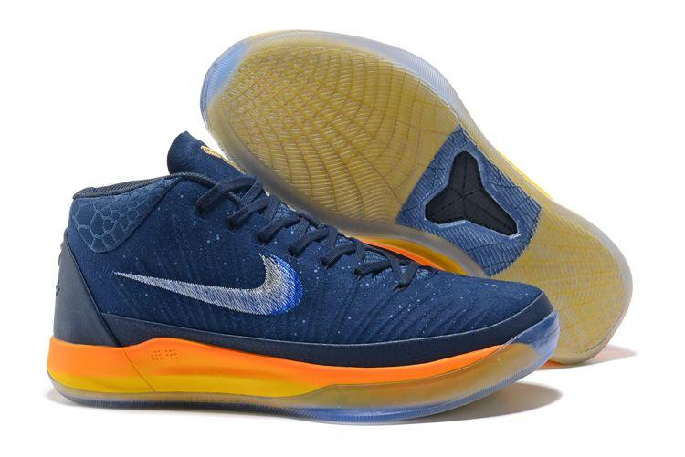 """551e749e052a Nike Kobe A.D. Mid """"Rise"""" Obsidian White-Mega Blue 922482-401"""