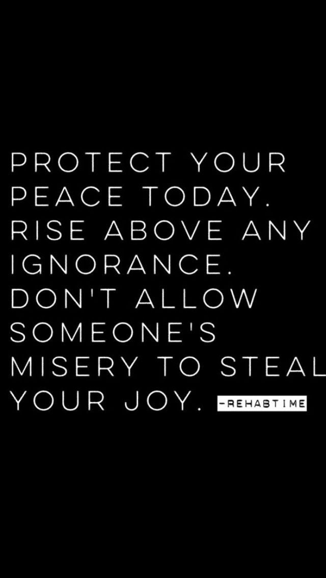 Protect your peace #inspiration | Miserable people quotes ...