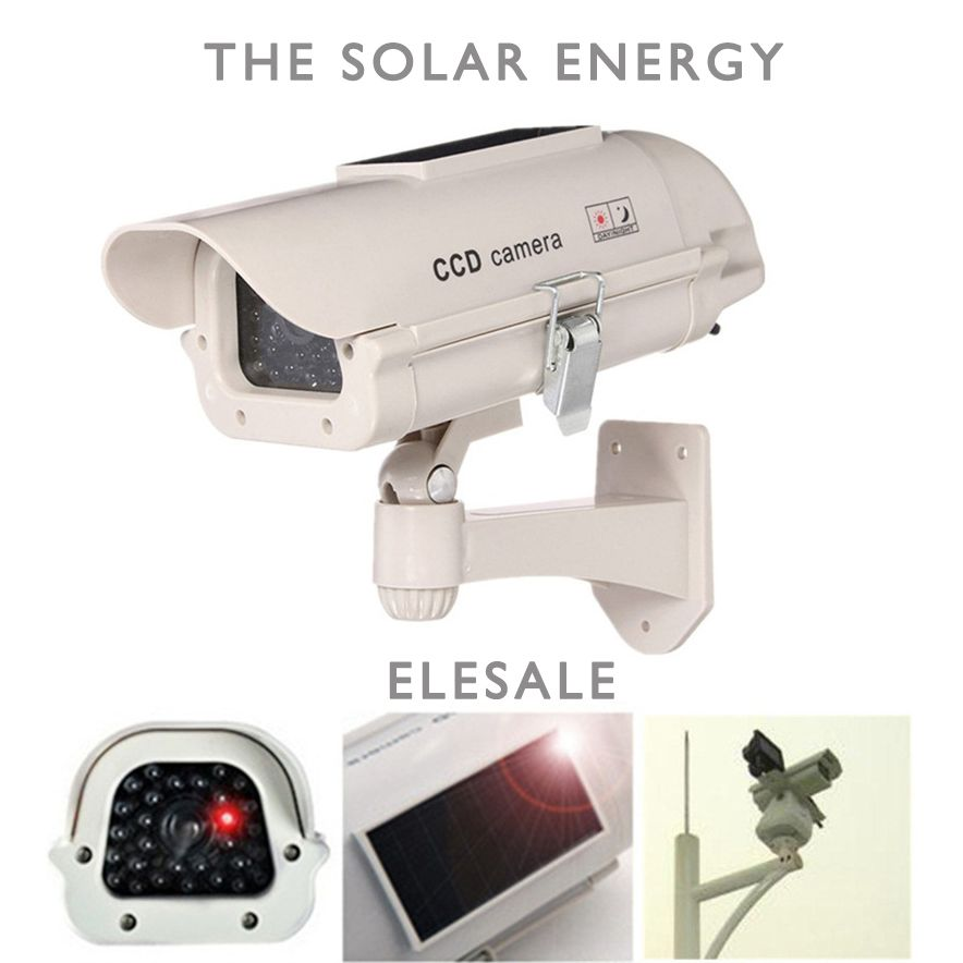 $17.91 (Buy here: https://alitems.com/g/1e8d114494ebda23ff8b16525dc3e8/?i=5&ulp=https%3A%2F%2Fwww.aliexpress.com%2Fitem%2FWaterproof-Silver-Metal-Fake-Camera-Two-AA-Battery-LED-Dummy-Security-Camera-Ir-Led-Dome-CCTV%2F32690729089.html ) The solar energy Waterproof Fake Camera Two AA Battery LED Dummy Security Camera Ir Led Dome Camera Surveillance Camera ELESALE for just $17.91