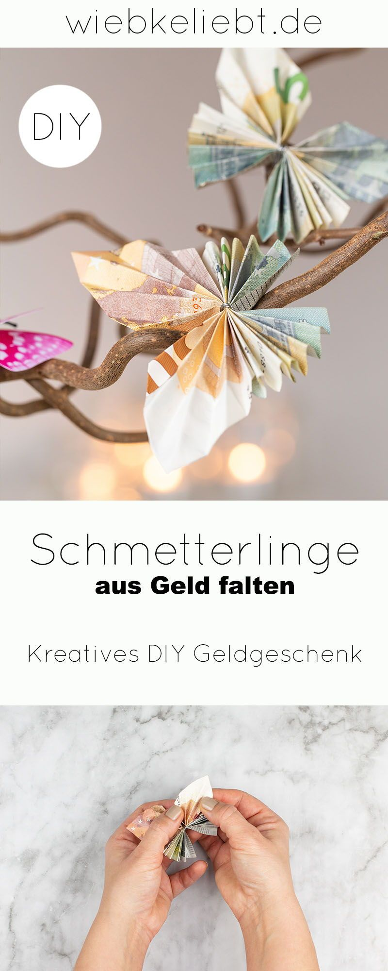 Photo of DIY: Folding butterflies out of money – Instructions for special money gifts [Werbung] | DIY Blog | D