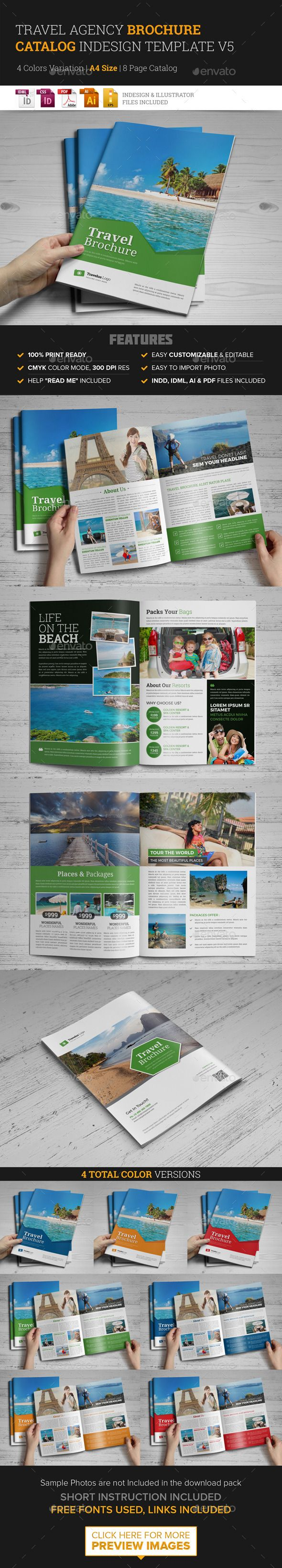 Travel Brochure Catalog InDesign Template v5