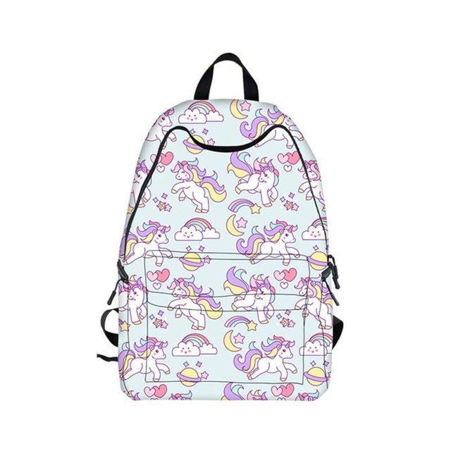 f977165f4355 Cartoon Rainbow Unicorn Backpack For Teenage Girls Children School Bags  Laptop Backpacks Women Kawaii Pony Unicorn Bag For Girls