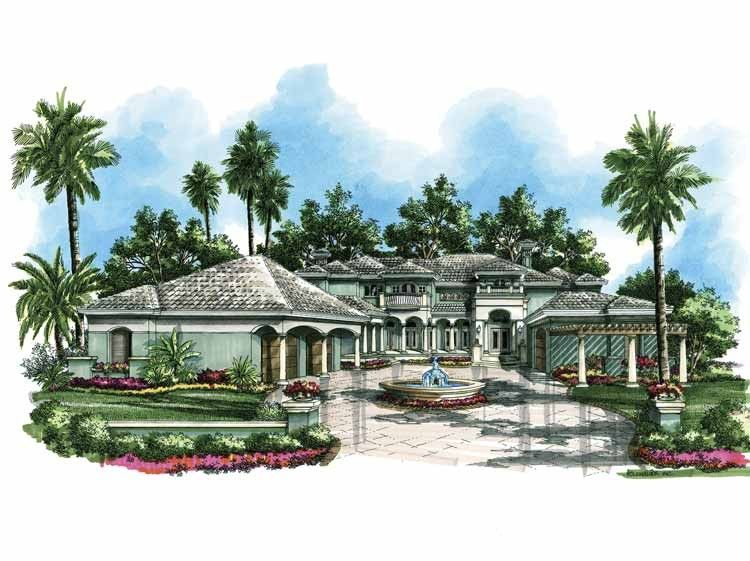 Italianate House Plan With 7675 Square Feet And 5 Bedrooms S From Dream Home Source House Plan Code Dhsw63980 House Plans Luxury House Plans Floor Plans