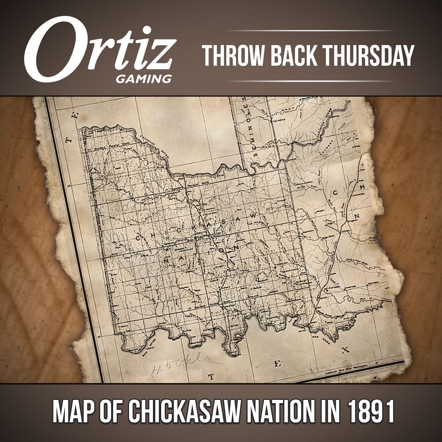Tbt Throw Back Thursday Map Of Indian Territory In