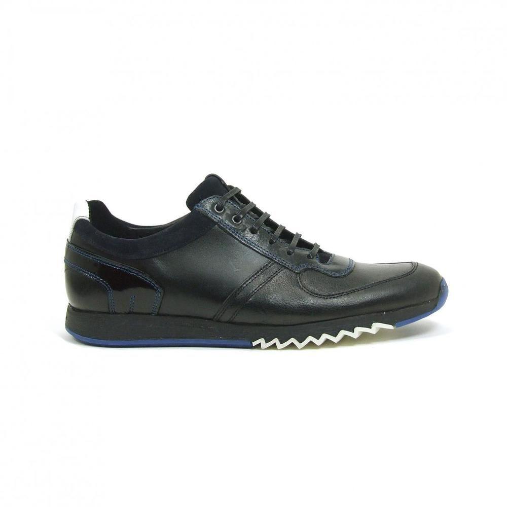 Floris Van Bommel Laag Running Veter 16127 Paars Floris Van Bommel Sneaker Sneaker Zwart Heren Sneakers