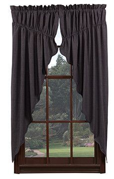 Arlington Scalloped Lined Prairie Curtains 63 Country Style