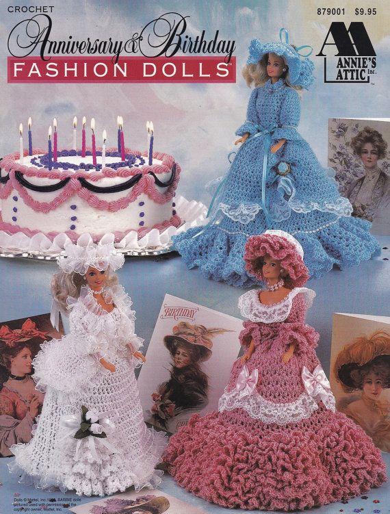 Anniversary & Birthday Fashion Dolls, Annie\'s Attic Crochet Doll ...
